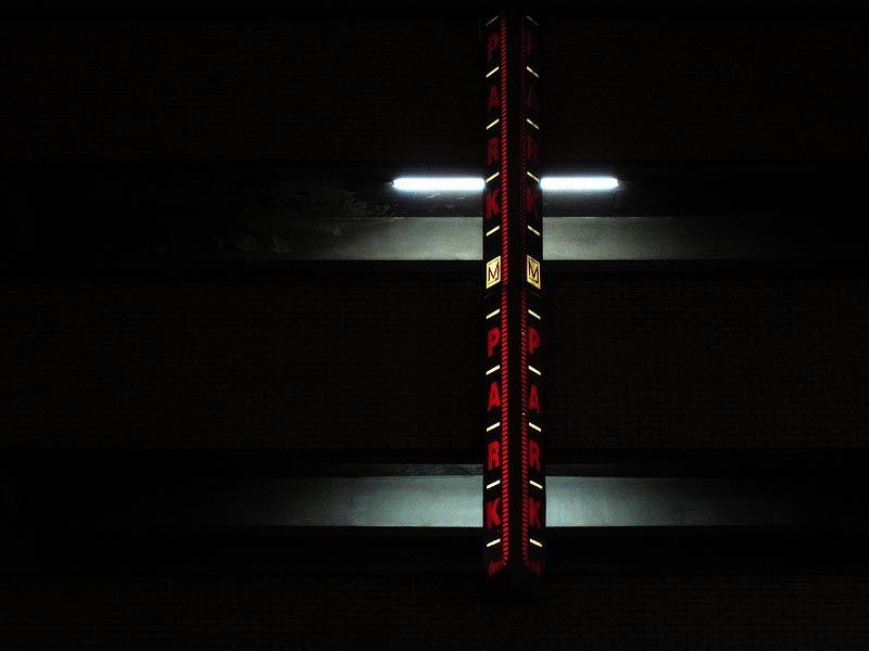 Parking garage sign on W34th Street