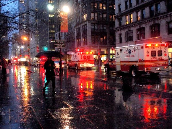 Emergency on lower Broadway due to severe weather