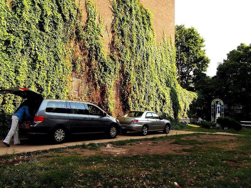 Church parking lot at Park Slope