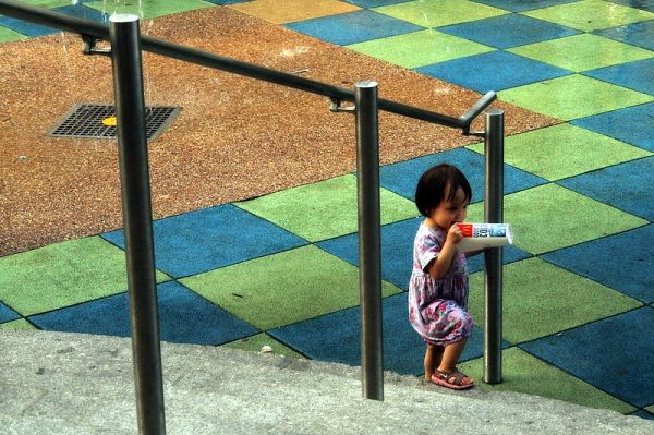 Child  at Union Square playground