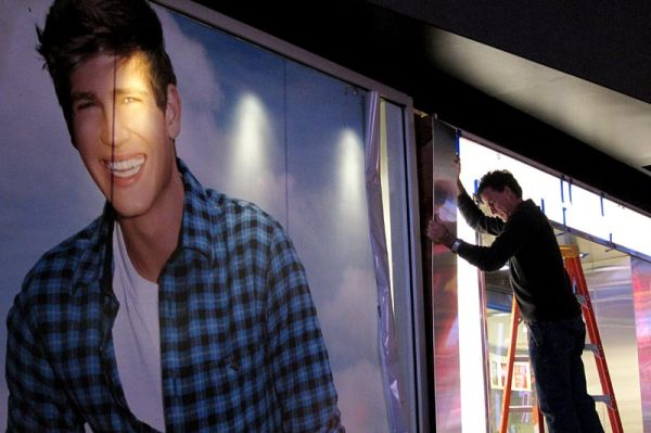 Window dressing on Times Square