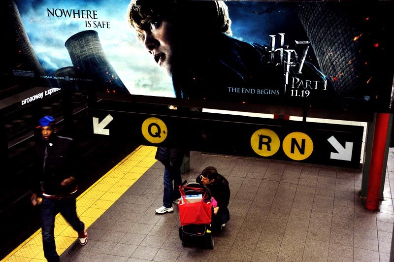 Harry Potter at the Union Square station