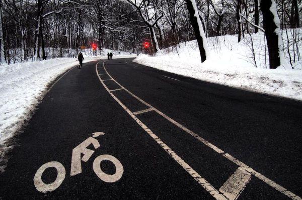 Bike lane on Prospect Park