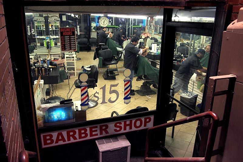 Old fashioned barbershop on Fulton Street