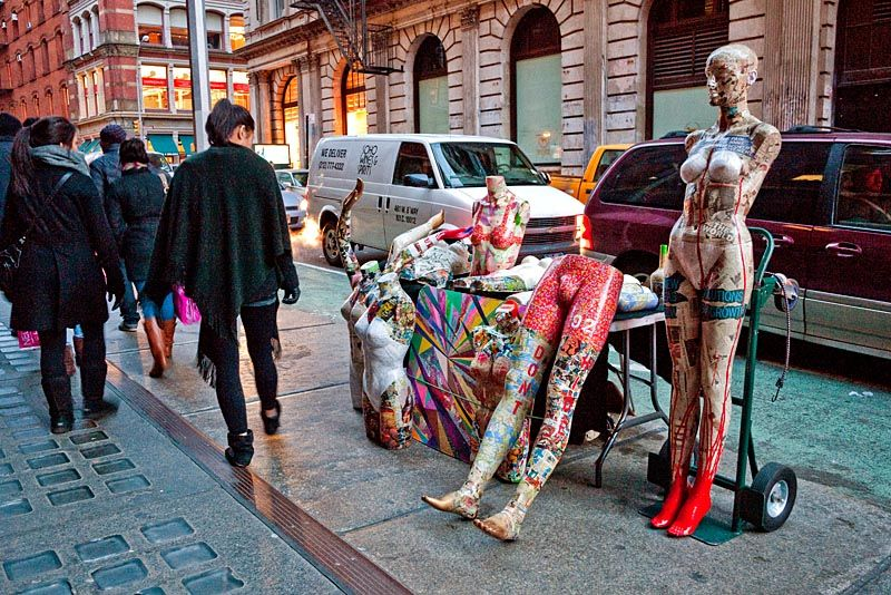 Sidewalk mannequins in SoHo