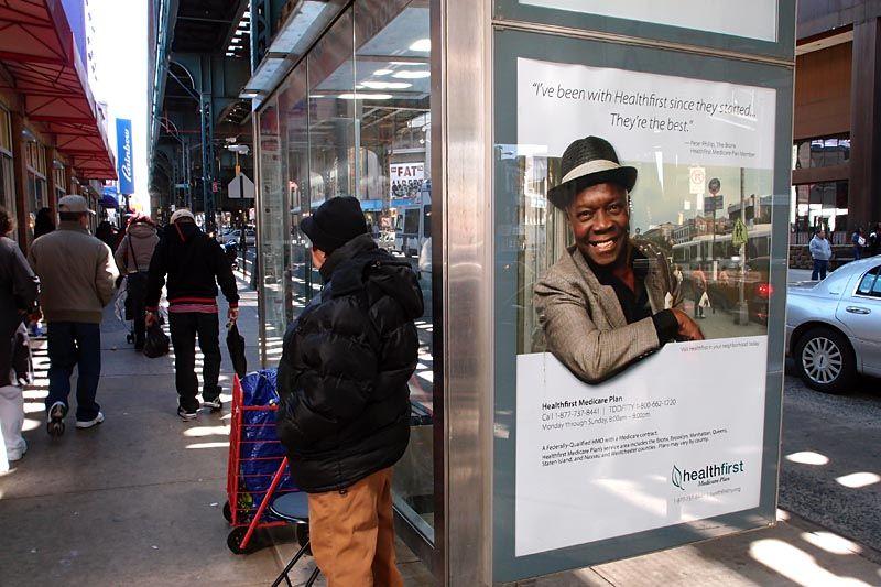 Health provider ad on Graham Street, Brooklyn