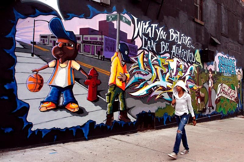 Mural on 8th Street and 5th Avenue, Brooklyn