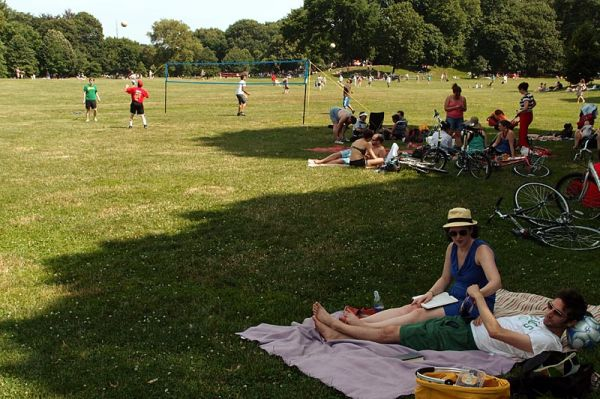 Afternoon picnic at Prospect Park