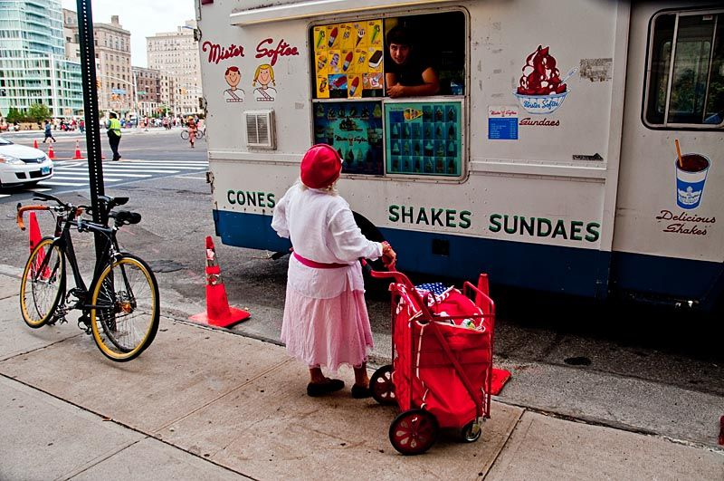 Ice cream truck on Grand Army Plaza