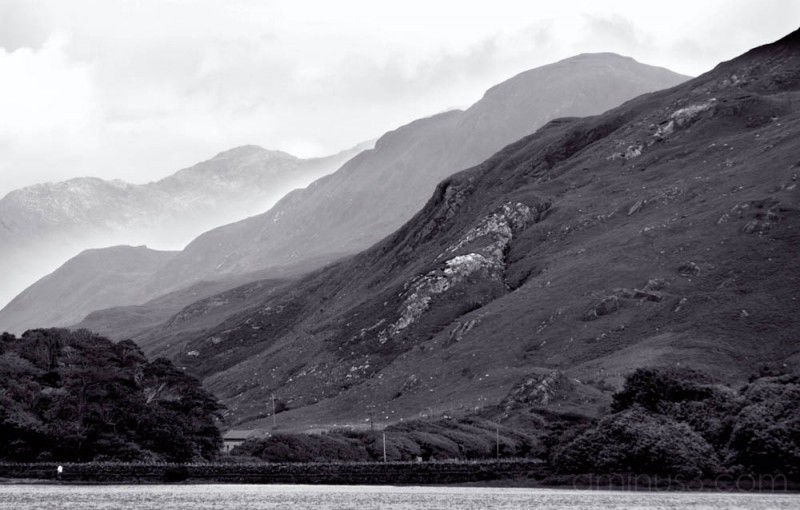 view to the lake near Kylemore Abbey