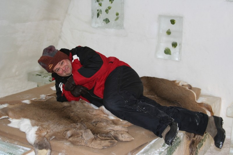 Me in the Ice Hotel!