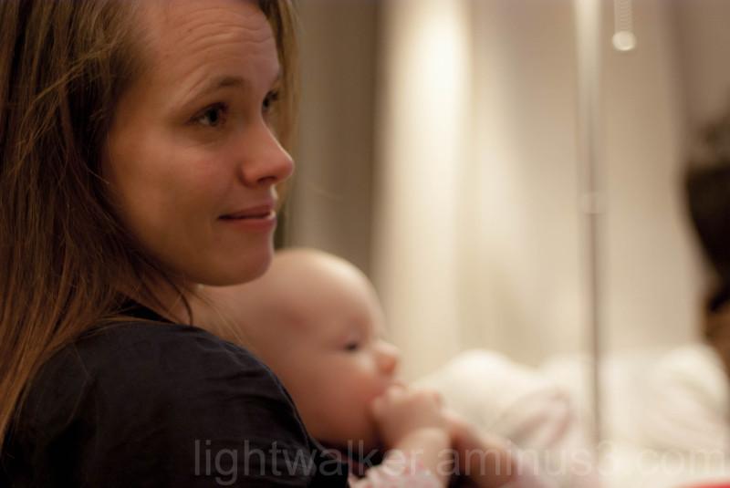 Piroska with daughter Lujzi