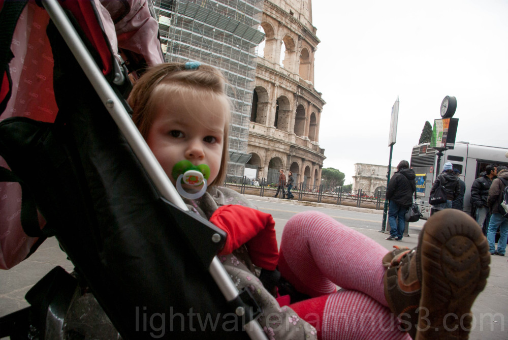 Fanni at the Colosseum