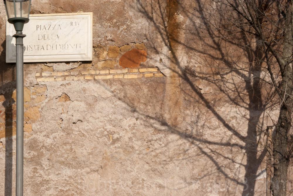 A wall above Piazza di Spagna
