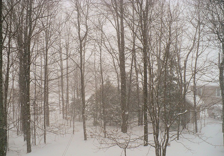 tempête de neige au Québec - snowstorm in Québec