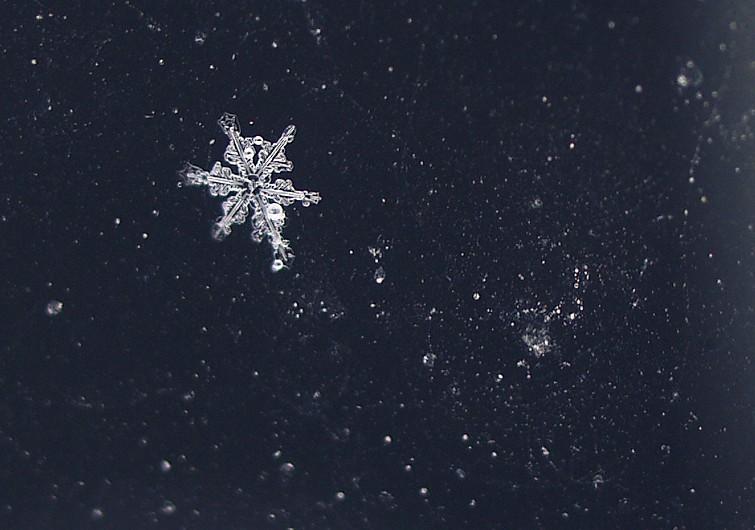 gouttelette de pluie gelée - frozen rain droplet