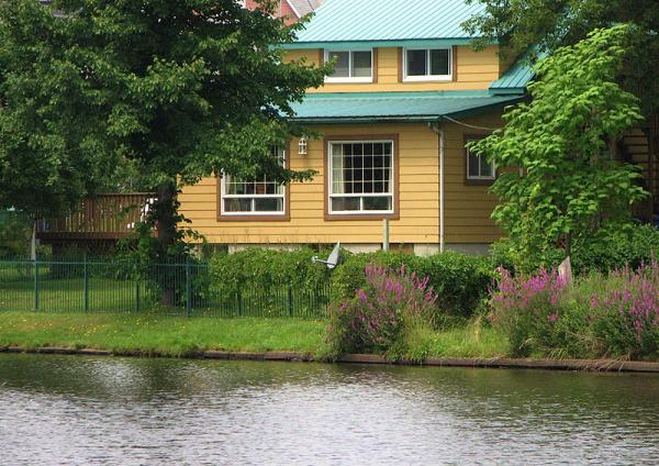 charmante maison vue du pont