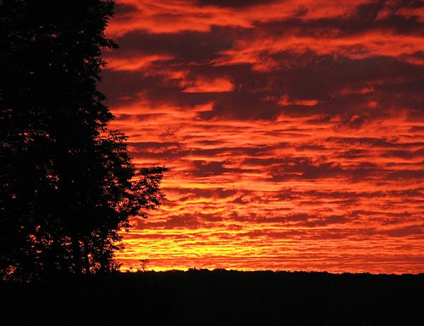 lever de soleil sur les Cantons de l'Est