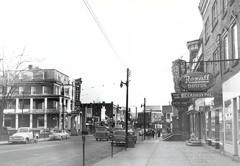 memorabilia - la rue principale vers 1952