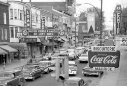 memorabilia   la rue principale vers 1959