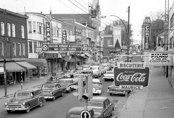memorabilia - la rue principale vers 1959
