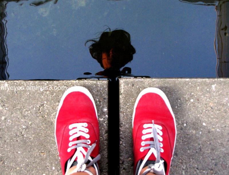 Parc André Citroen, self portrait, reflection