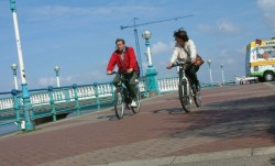 Cyclists, Southport, April 2003