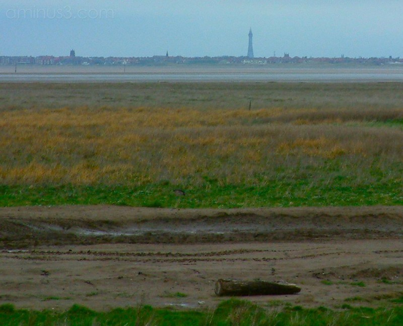 Across the Ribble to Blackpool from near Southport