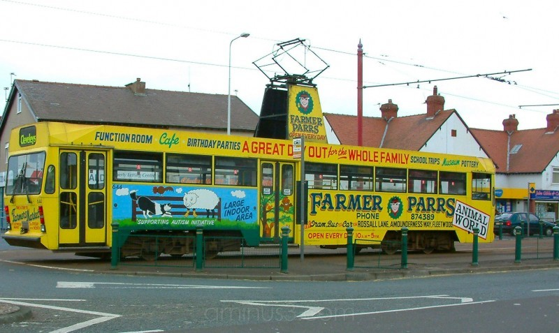 Blackpool tram at Cleveleys