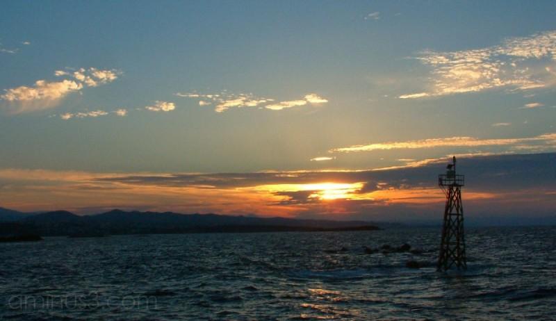 Sunset off Chania