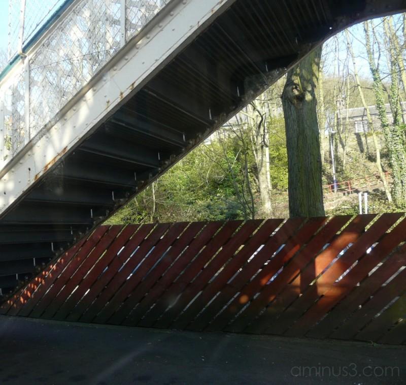 Steps at Broadbottom Station