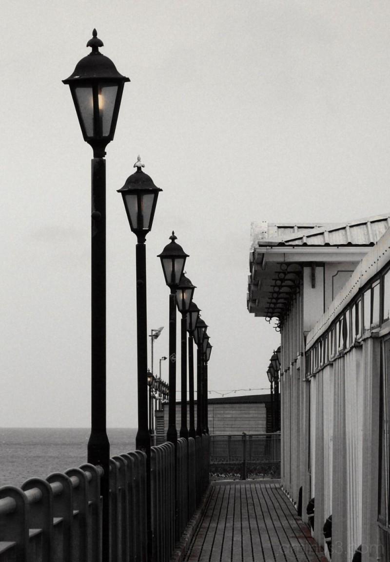 Lights along the pier