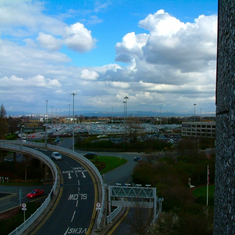 from the roof of Manchester Airport