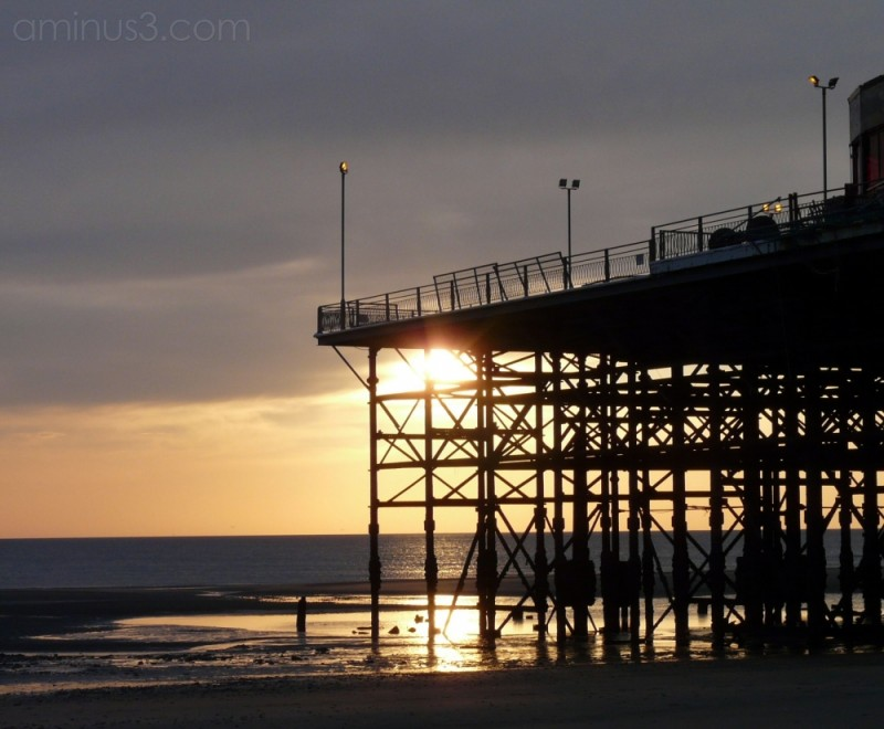 Blackpool South Pier at Sunset