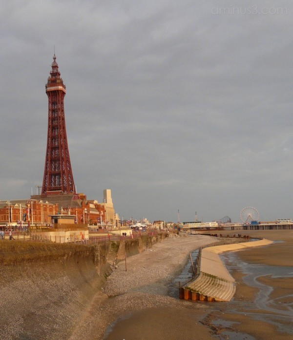 Blackpool Tower and Beach from North Pier
