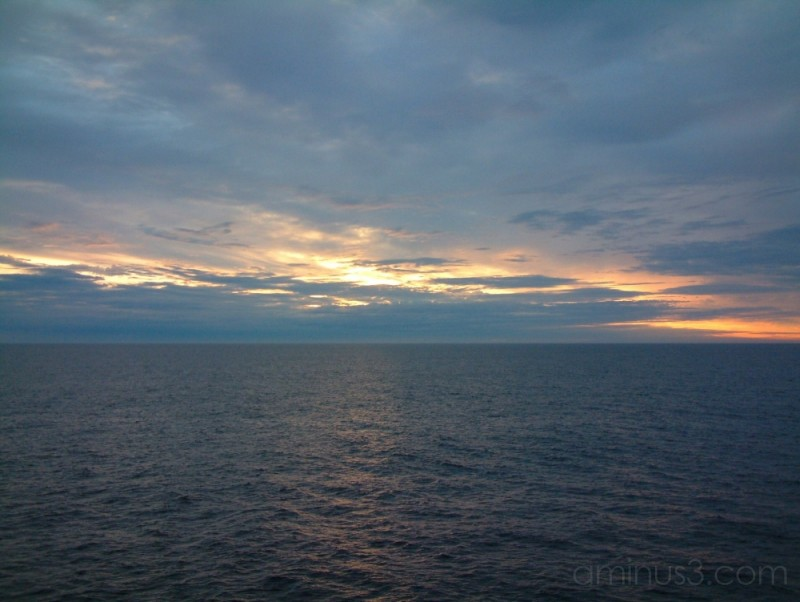 Sunset off Norway