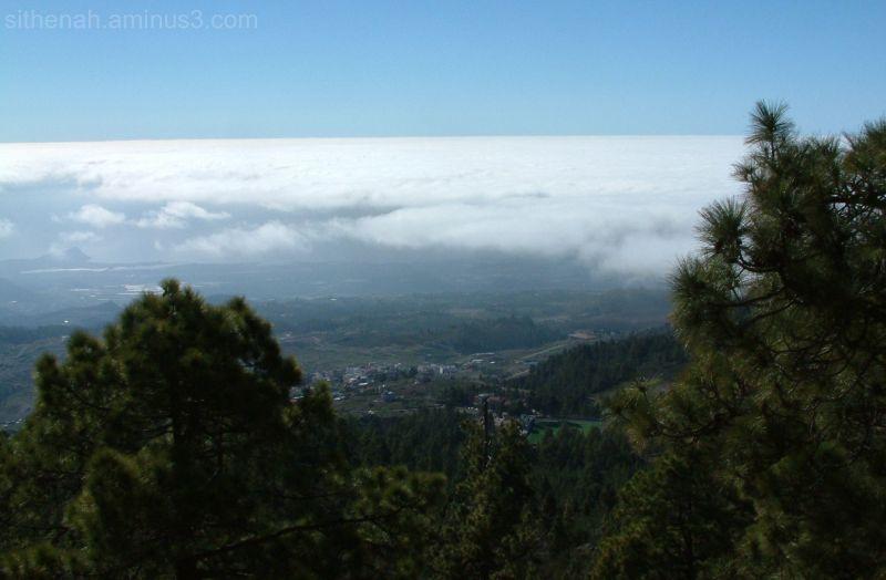 Vilaflor from Montaña de Chasna.