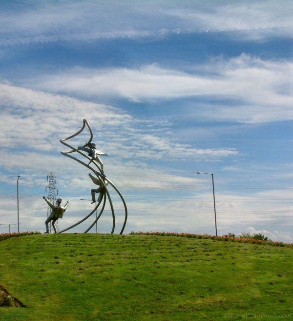 Helter Skelter Sculpture near Blackpool