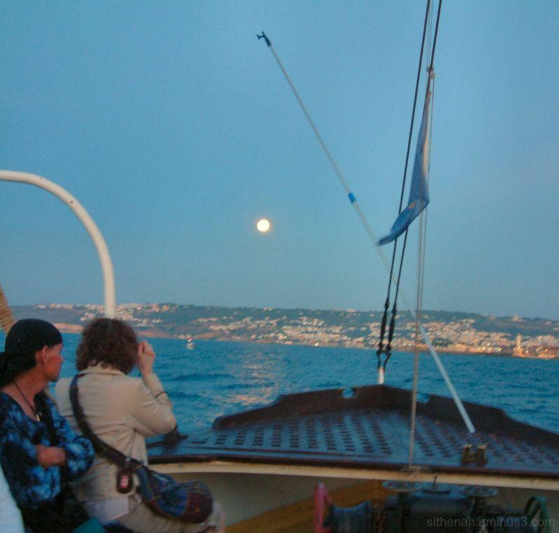 Moon over Hania