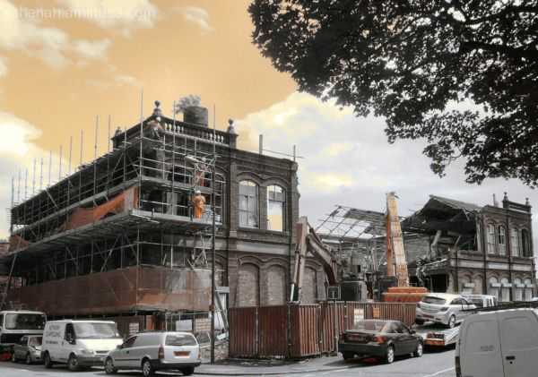 Demolition of the Caxton Works in Hyde