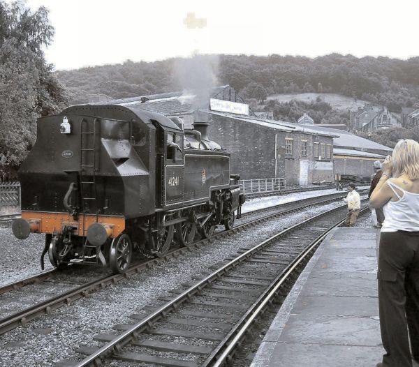 Preserved locomotive on the Worth Valley Railway