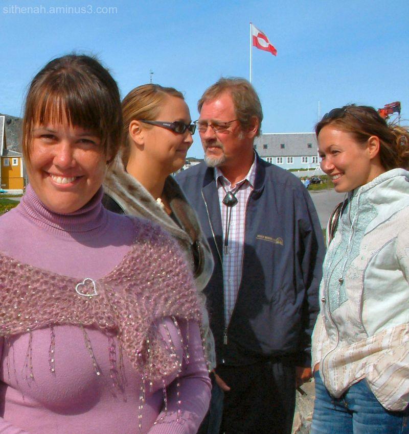 Souvenir sellers at Nuuk