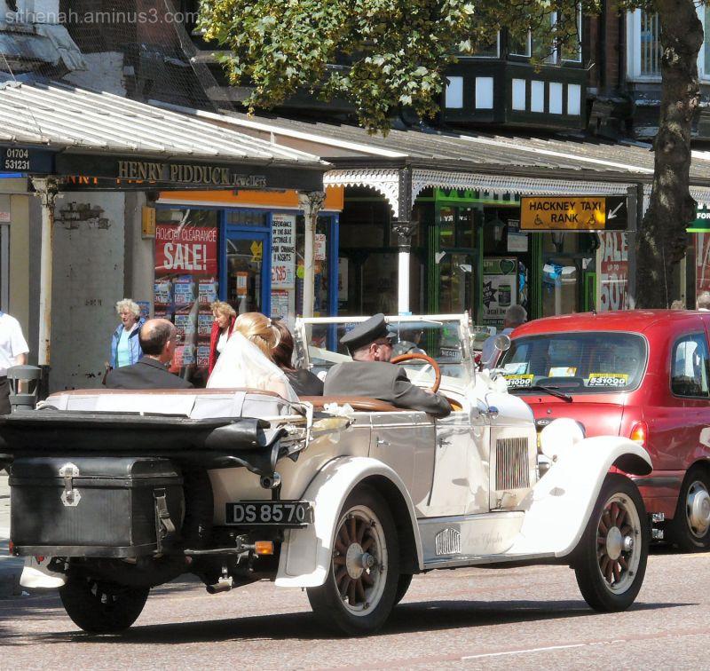 Wedding car on Lord Street
