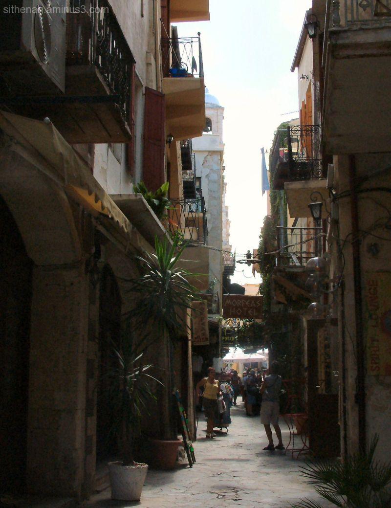 Isodion, a street in Hania, Crete