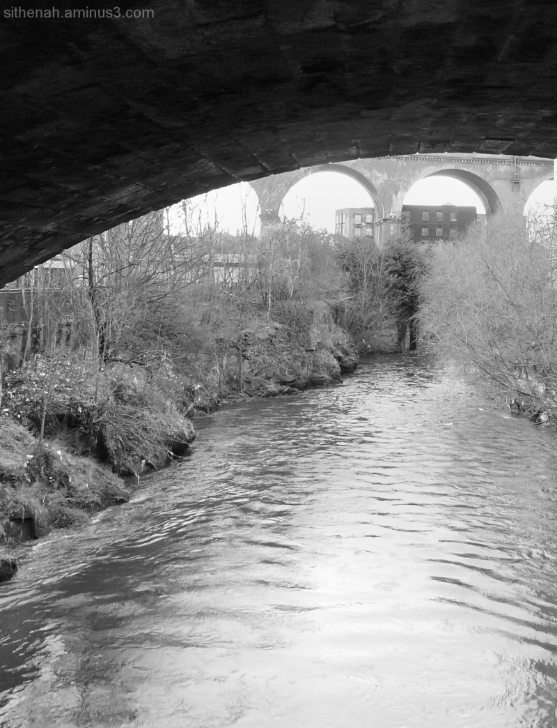 Mersey between the Bear Pit and Stockport Viaduct