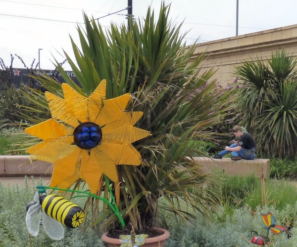 Flowers at Euston Gardens, Fleetwood, Lancashire