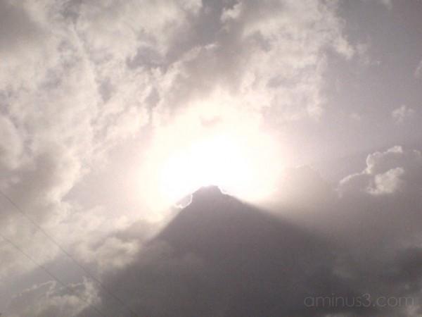 Pyramid in sky