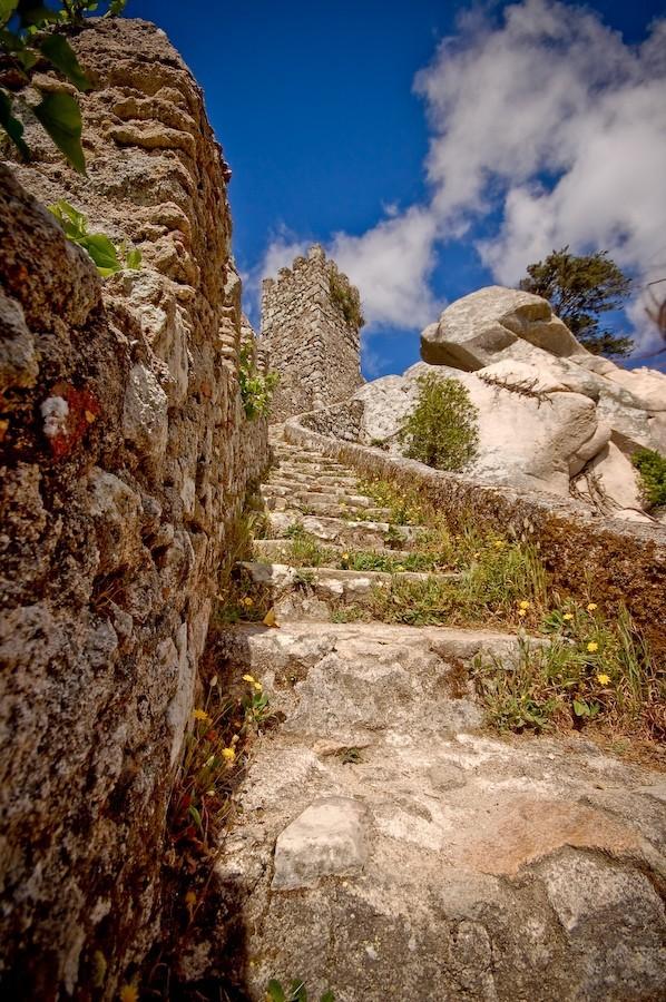 castle, steps, lisbon