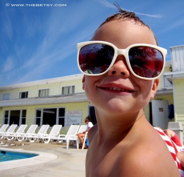 boy swimming sunglasses, jack
