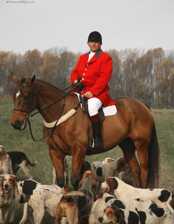 Blessing of the hounds fox hunting master